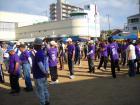 今日は毎年行われる海老江西連合主催スポーツ大会で、一町会は何時もの紫色のユニホームで頑張りました!(^^)by 管理者 512x384(82KB)